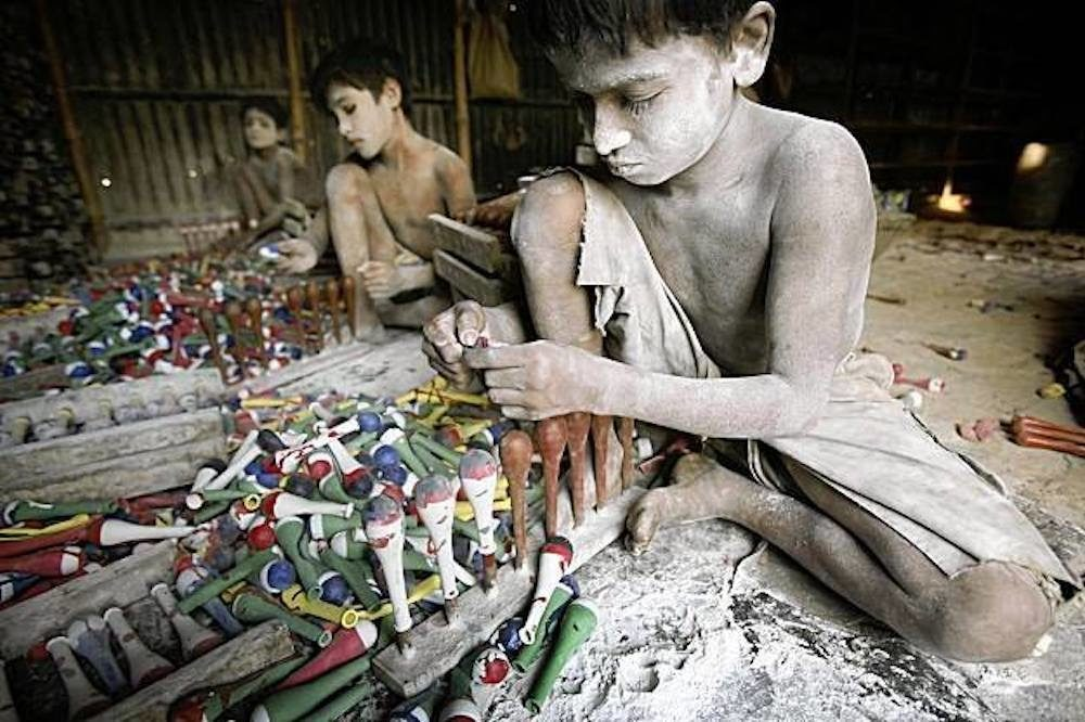 Child Labour   Children in factories are exposed to various dangers, including exposure to harmful chemicals — Photo credit: Protest Child Labour / Facebook
